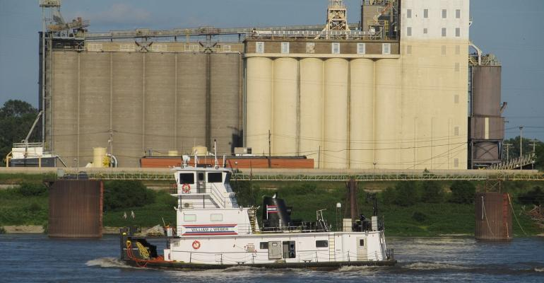 tugboat grain elevator