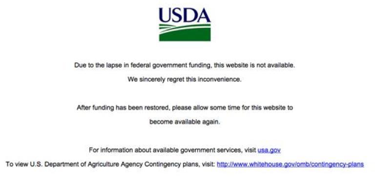 USDA website shuttered on security concerns