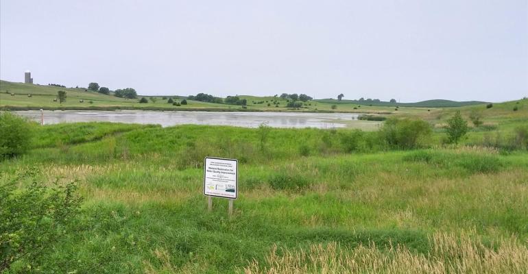 CRP grassway field