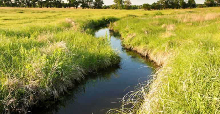 waterway in field stream