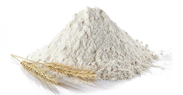 wheat flour and grain of wheat