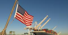 U.S. flag exports trade container ship port exports