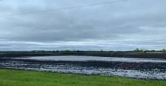 Ponding in field after spring rains